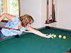 Pool table and gaming at lodge in roslyn ridge